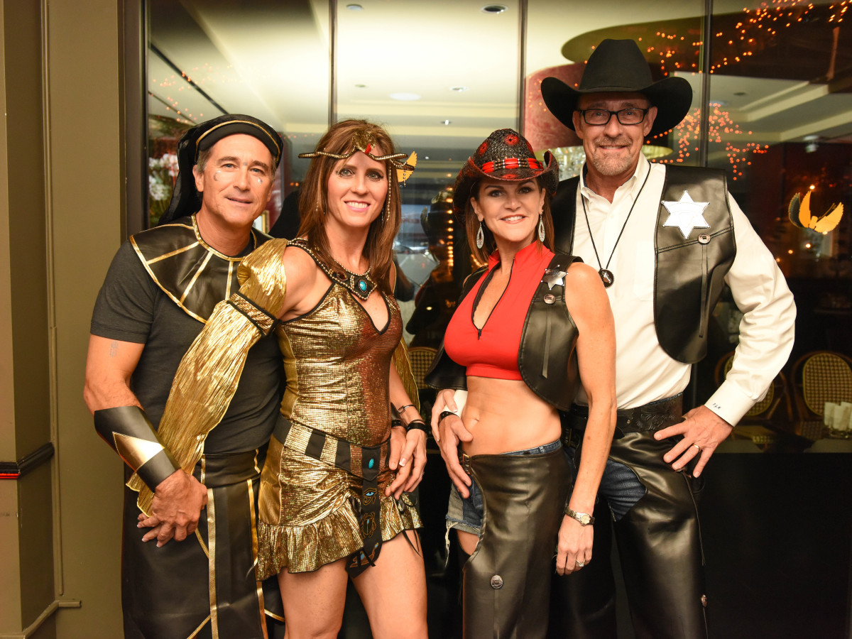 News, Shelby, Hotel ZaZa Halloween, Oct. 2015 Kenny and Sharon Nalepa, Roxanne and PJ Meyers