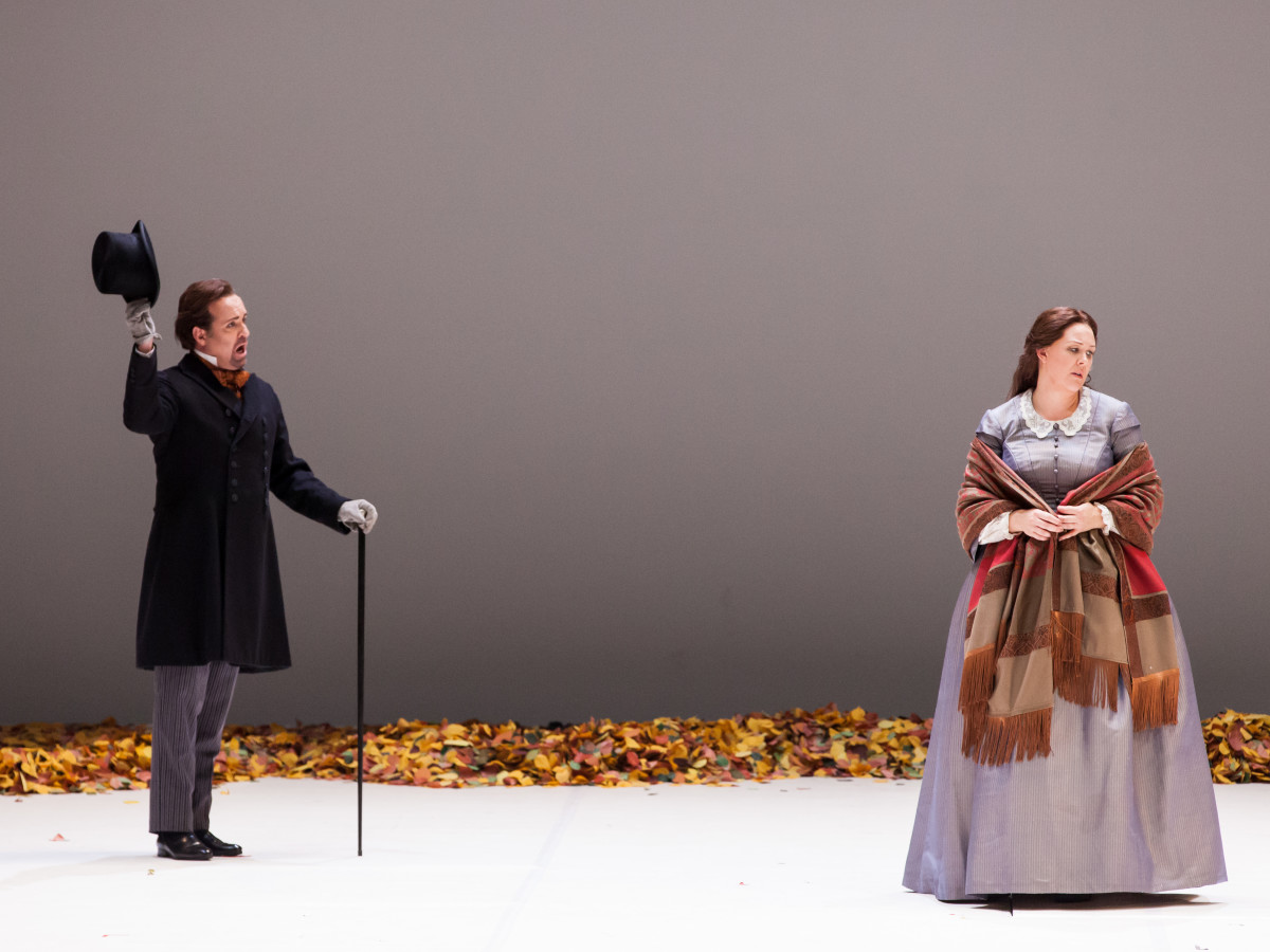 Scott Hendricks and Katie von Kooten in Houston Grand Opera production of Eugene Onegin,