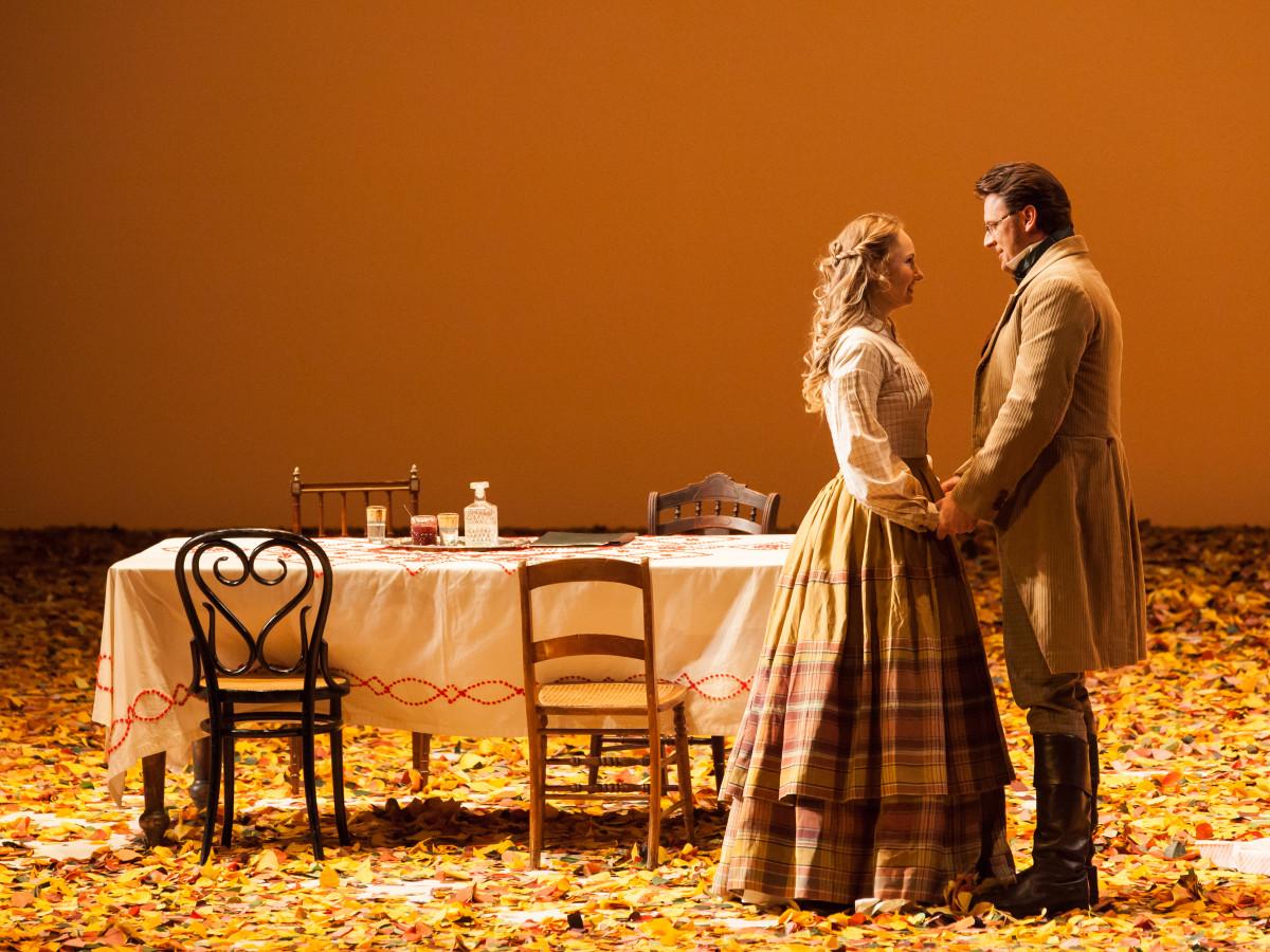 Megan Samarin and Norman Reinhardt Houston Grand Opera production of Eugene Onegin,