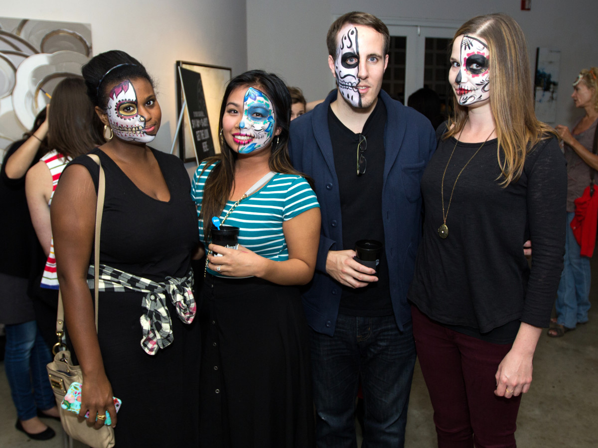 Houston, CultureMap Day of the Dead party, October 2015, Jheris Jordan, Thuha Nguyen, Scott Fraser, Joni Fields