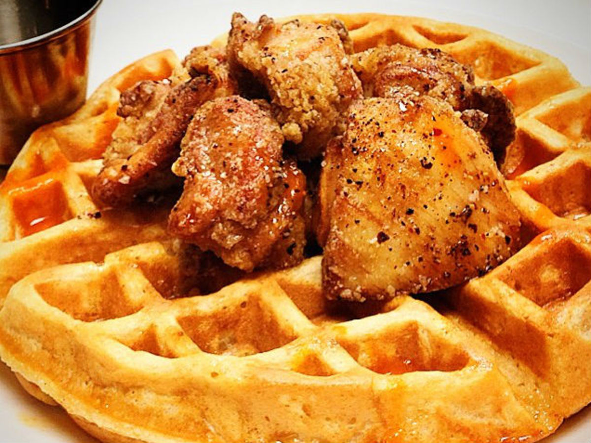 Hightower chicken and waffles