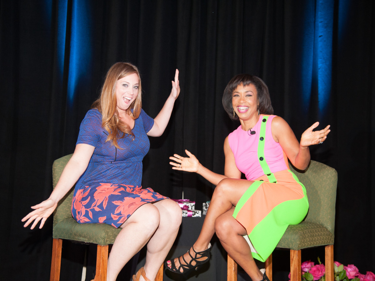 News, Shelby, Women's Fund luncheon, Oct. 2015, Katie Meyler, Gina Gaston Elie