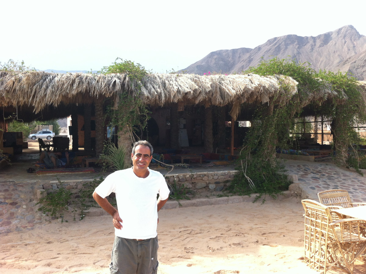 Salama, owner of Sawa Camp Rash Sitan Sinai Egypt