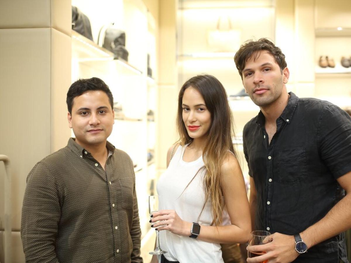 Tod's grand opening Raul Sanchez, Kristen Raines, Daniel Jacobs