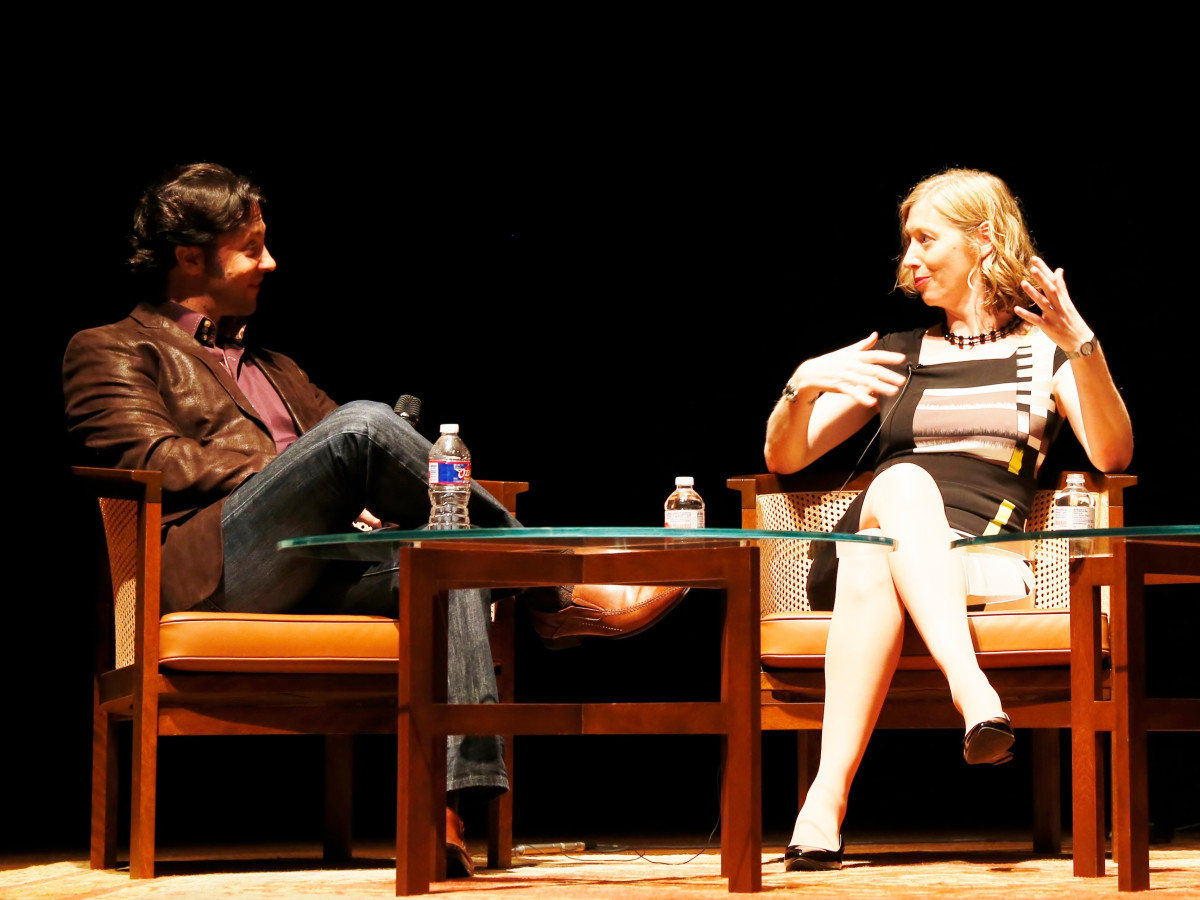 David Eagleman and Carrie Feibel at screening of The Brain Houston Public Media