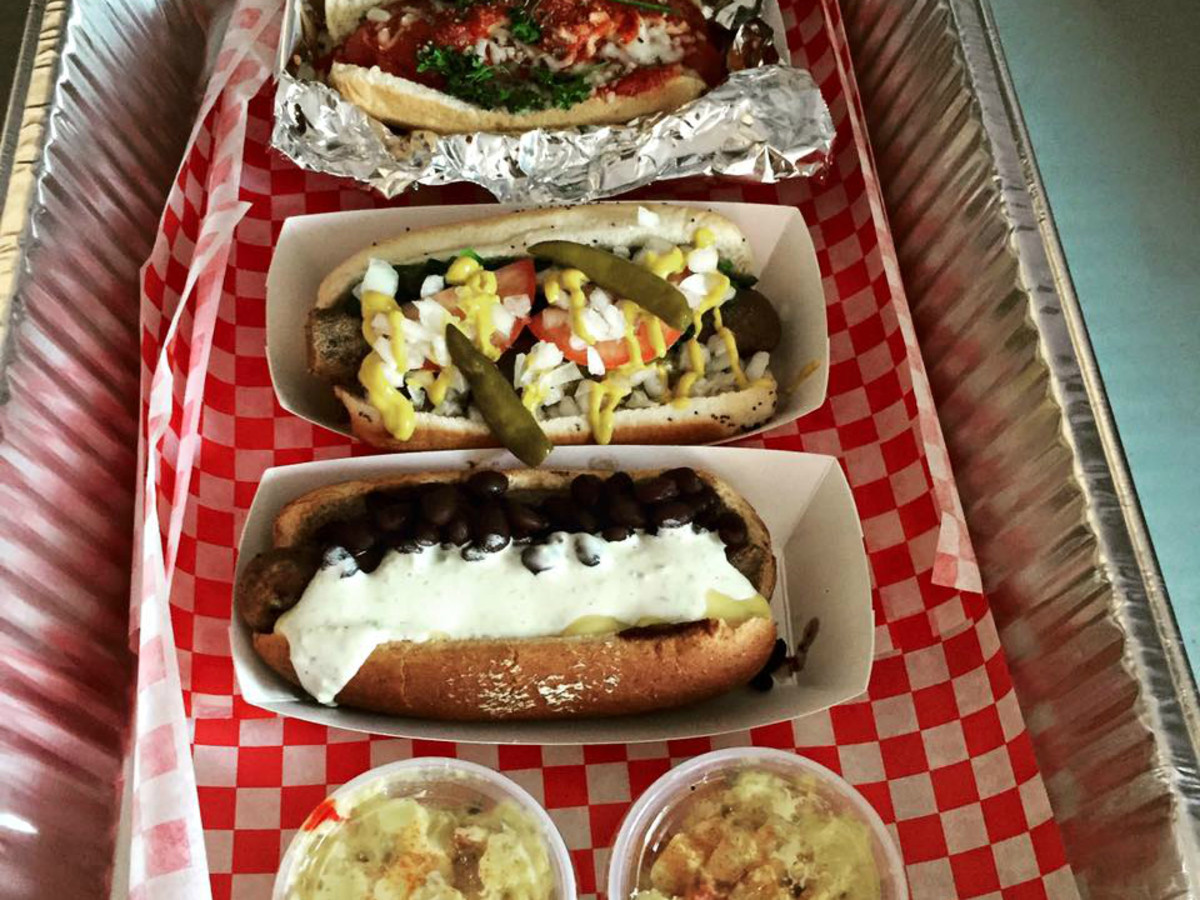 Mighty Dogs Cafe and Bistro Austin restaurant hot dogs 2015