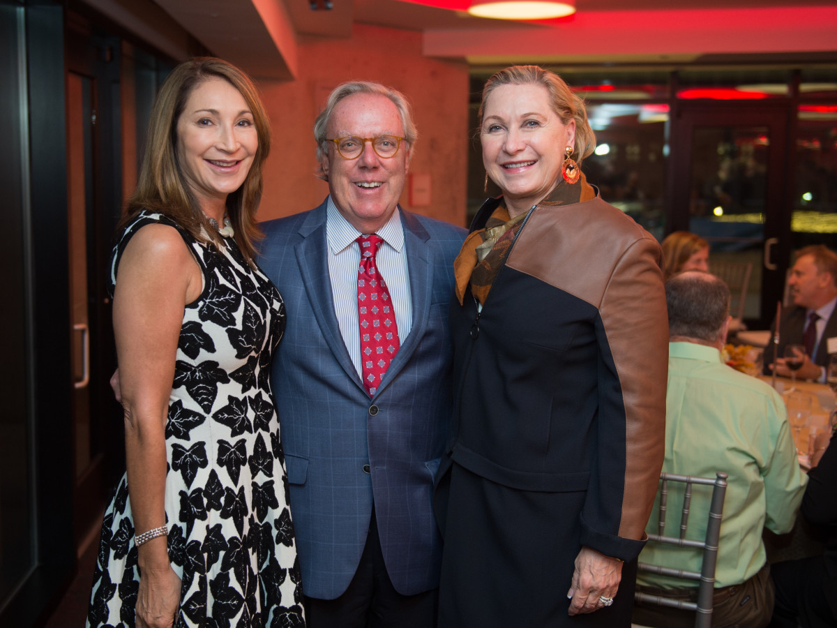 Houston, Alley Theatre opening night, October 2015, Soraya McCLelland, Michael Linn, Carol Linn