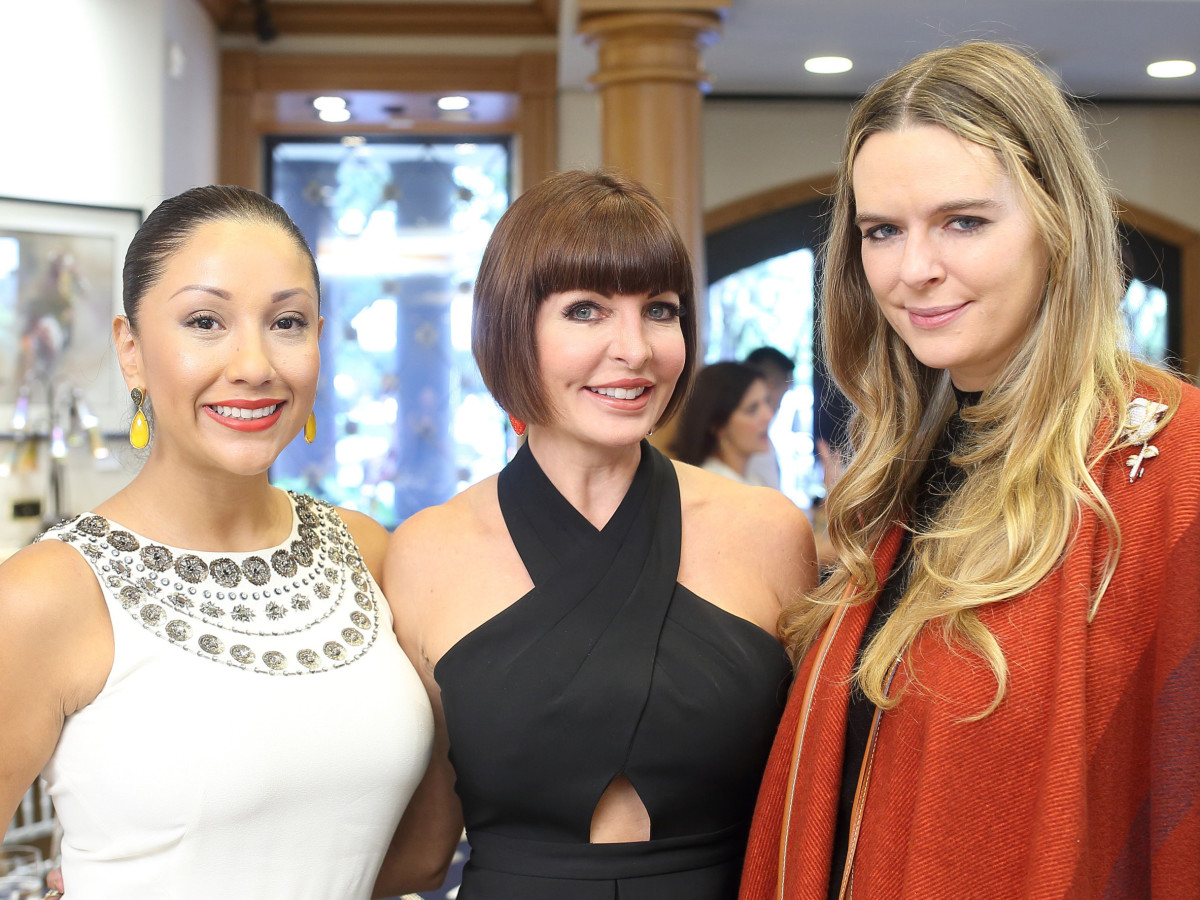 Houston, Una Notte kickoff party, October 2015, Nancy Almodovar, Staci Henderson, Eloise Frischkorn Bauer