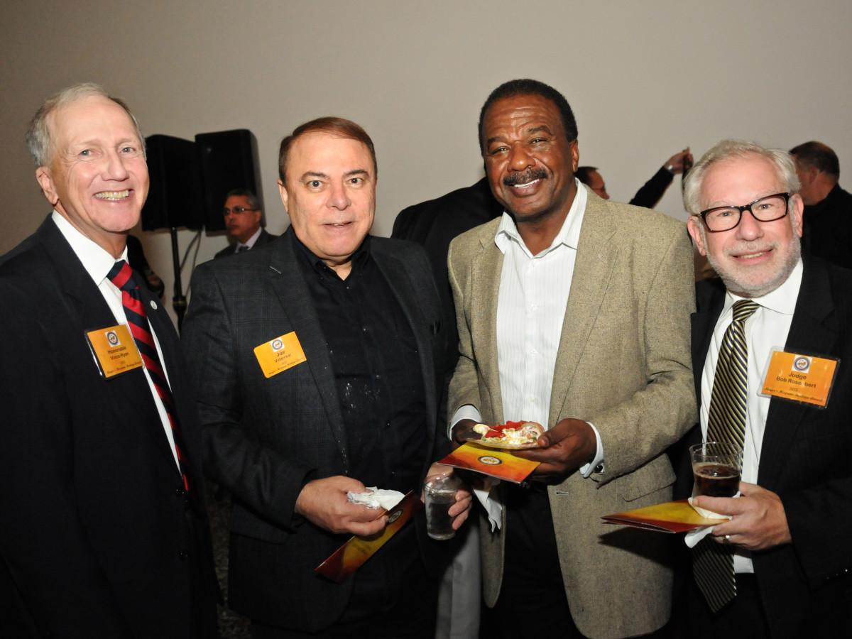 News, Shelby, Mayor's Hispanic Heritage Awards, Oct. 2015, County Attorney Vince Ryan, Joe Villarreal, Paul Shanklin, Judge Bob Rosenbert