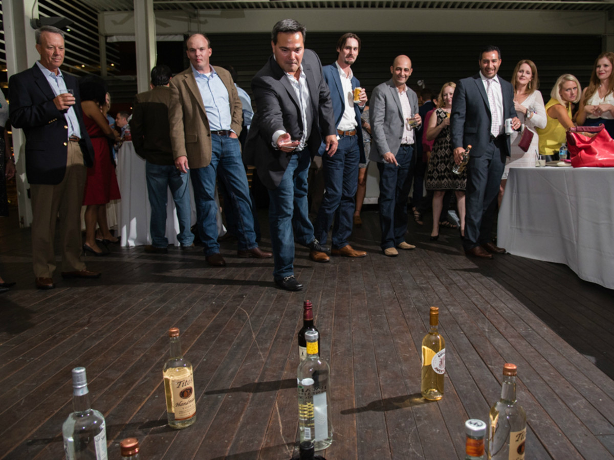 NCMEC Texas Heroes for Children Gala 2015 liquor bottle ring toss