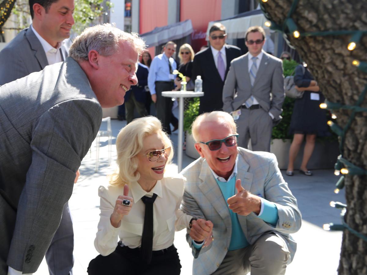 Lynn Wyatt and Dene Oliver at River Oaks District grand opening