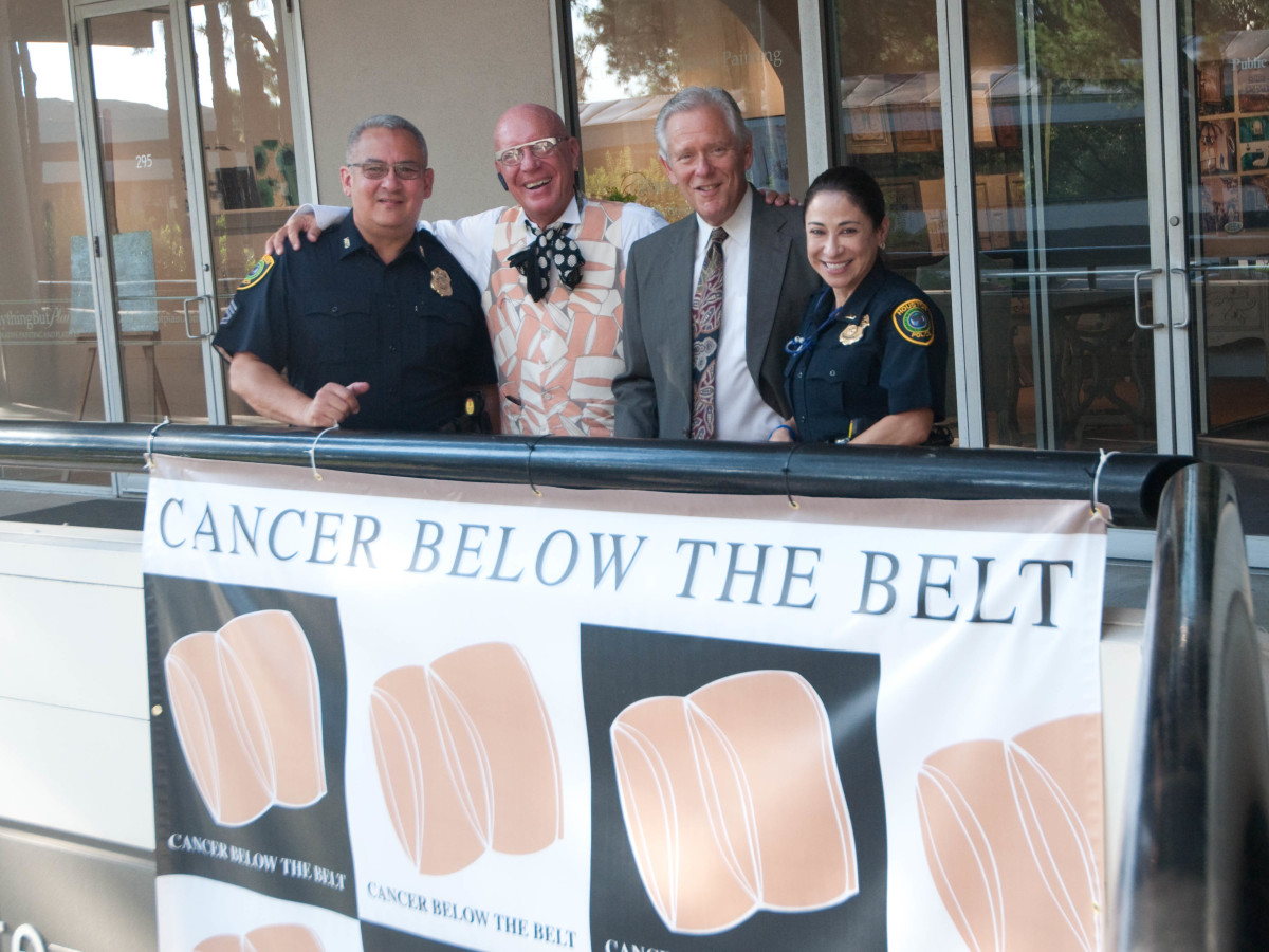 News, Shelby, Cancer Below the Belt, Sept. 2015, Mike angel. Kelly Gale Amen. Mury Cohen, Patty Cantu