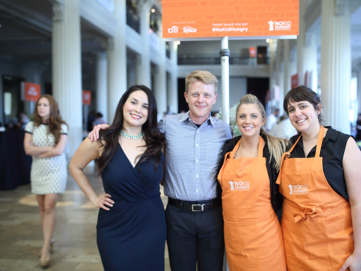 News, Taste of the Nation, Sept. 2015,  Alba Huerta, from left, Kenneth Freeman, Anna Wilkens and Caitlin Vann.