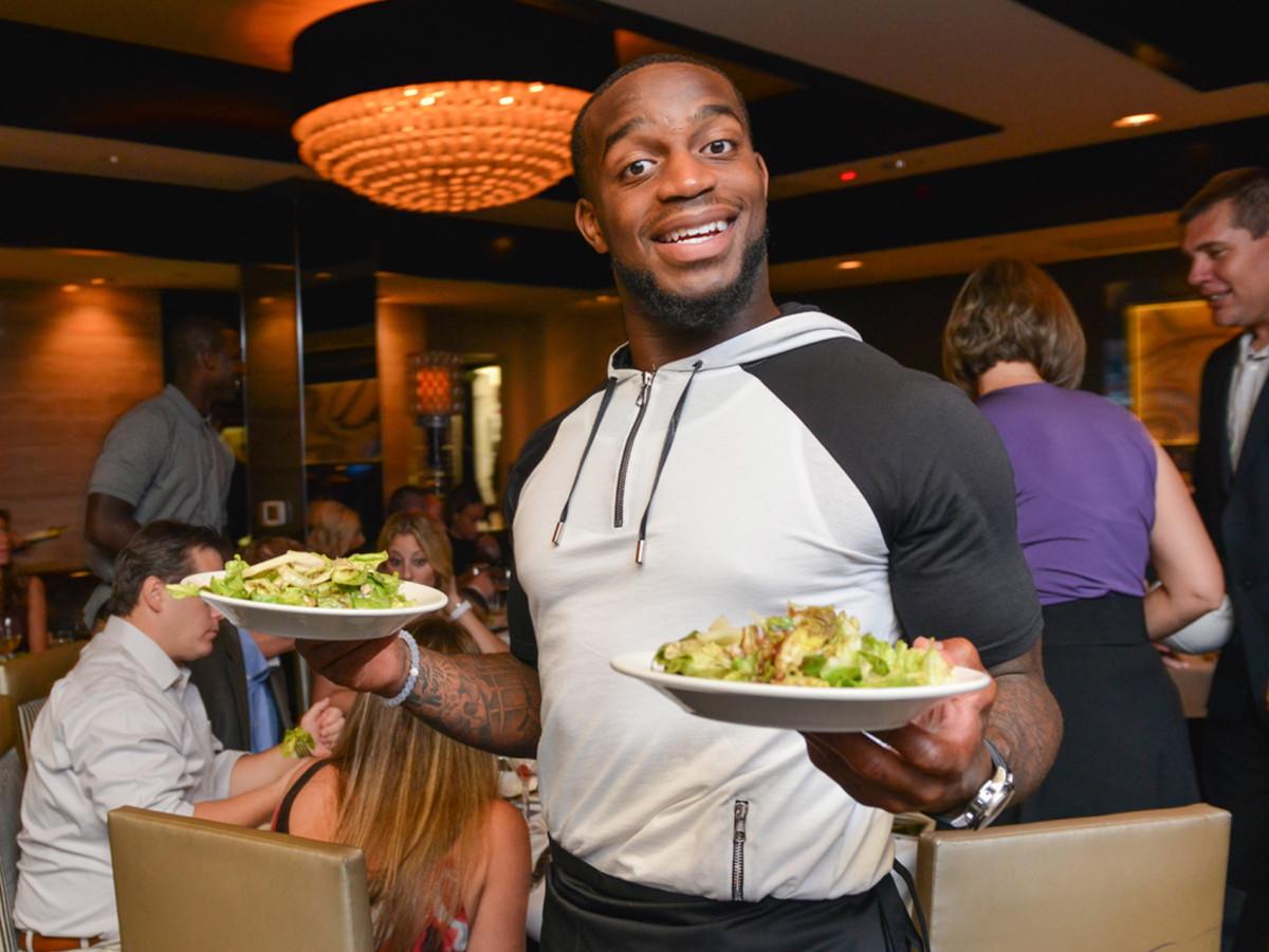 Arian Foster charity dinner Morton's Kareem Jackson