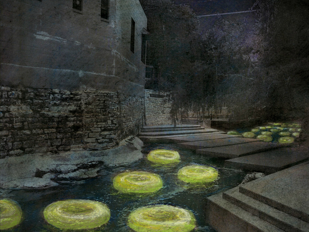 Waller Creek Show 2015 Floating the Waller Ten Eyck Landscape Architects rendering 2
