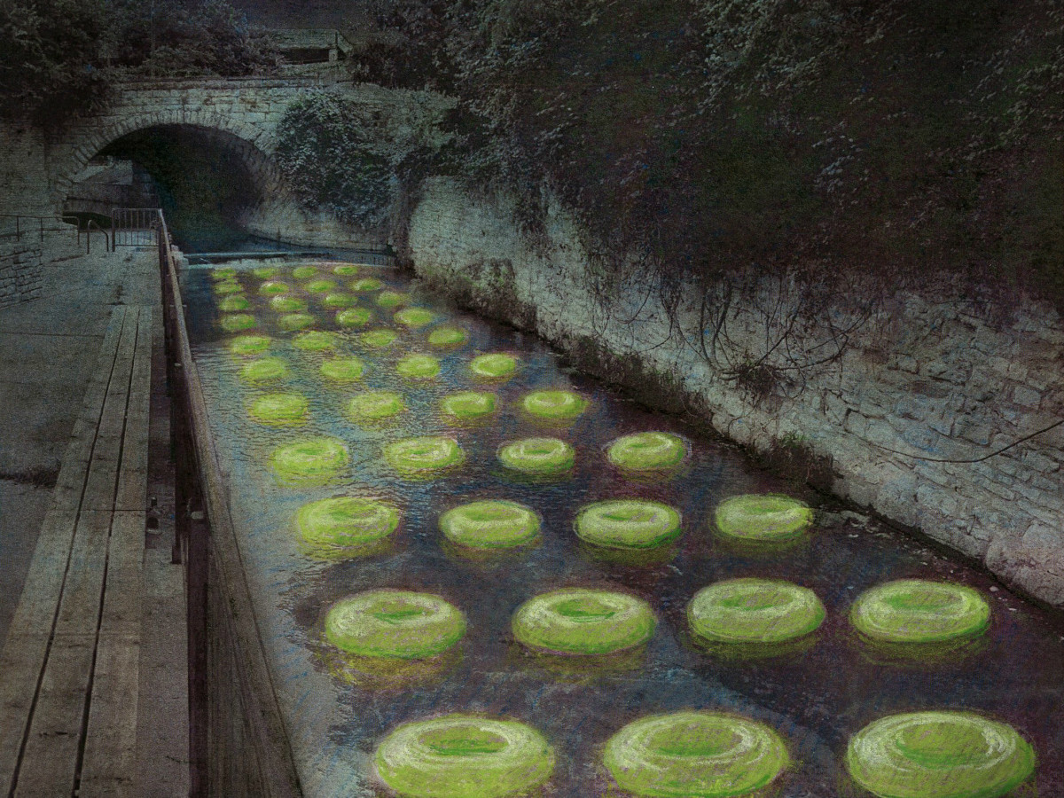 Waller Creek Show 2015 Floating the Waller Ten Eyck Landscape Architects rendering 1