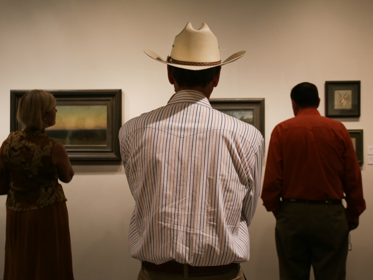 West by Southwest Harry Ransom Center exhibit interior cowboy hat September 2015