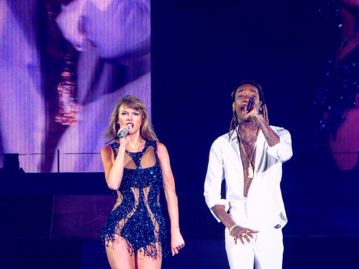 Taylor Swift and Wiz Khalifah at Minute Maid Park