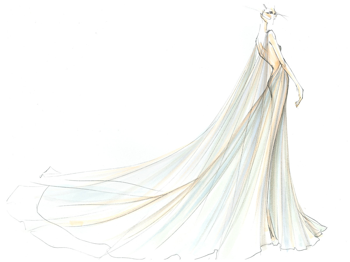 Marchesa inspiration sketch New York Fashion Week spring 2016
