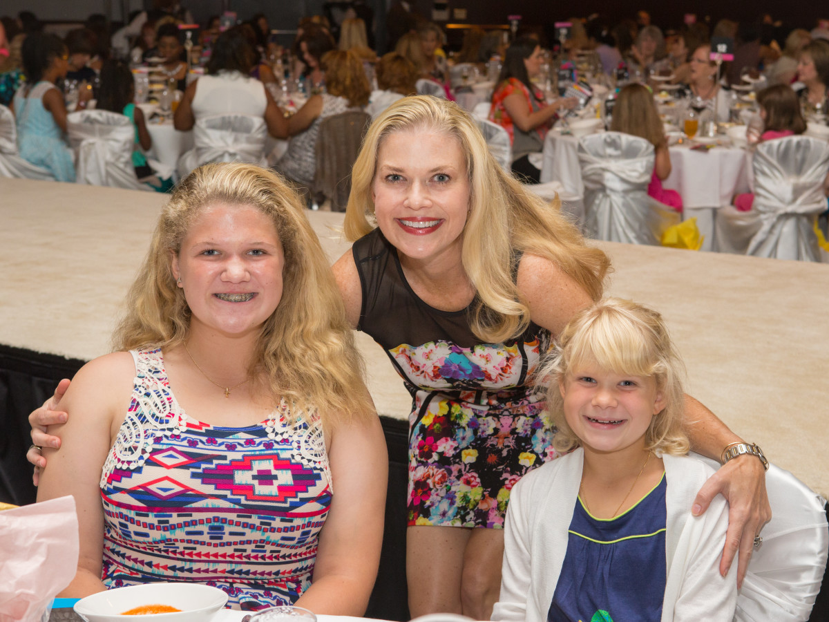 Houston, Woman's Hospital of Texas Labor Day Luncheon, August 2015, Kendall Pierce, Kaitlyn Pierce, Amy Pierce