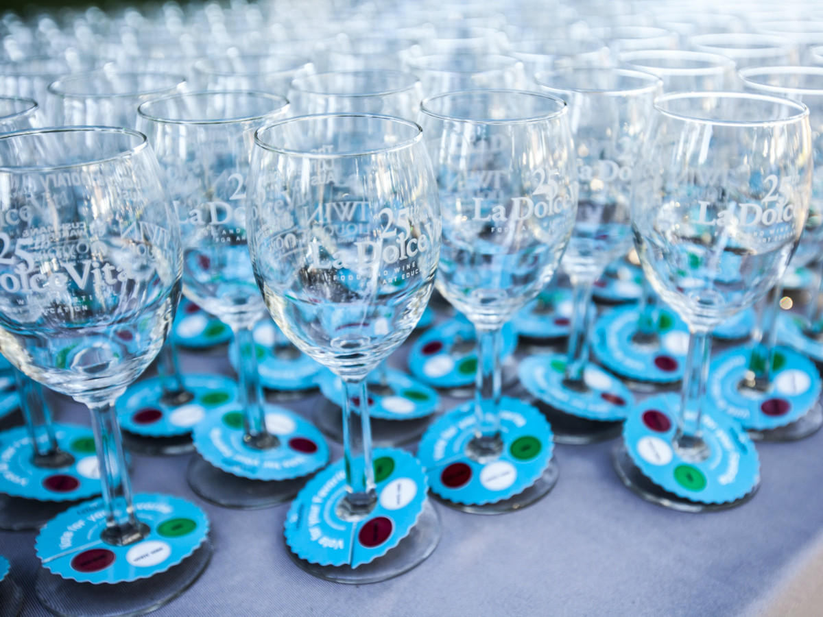 La Dolce Vita Food and Wine Festival The Contemporary Austin glasses 2014