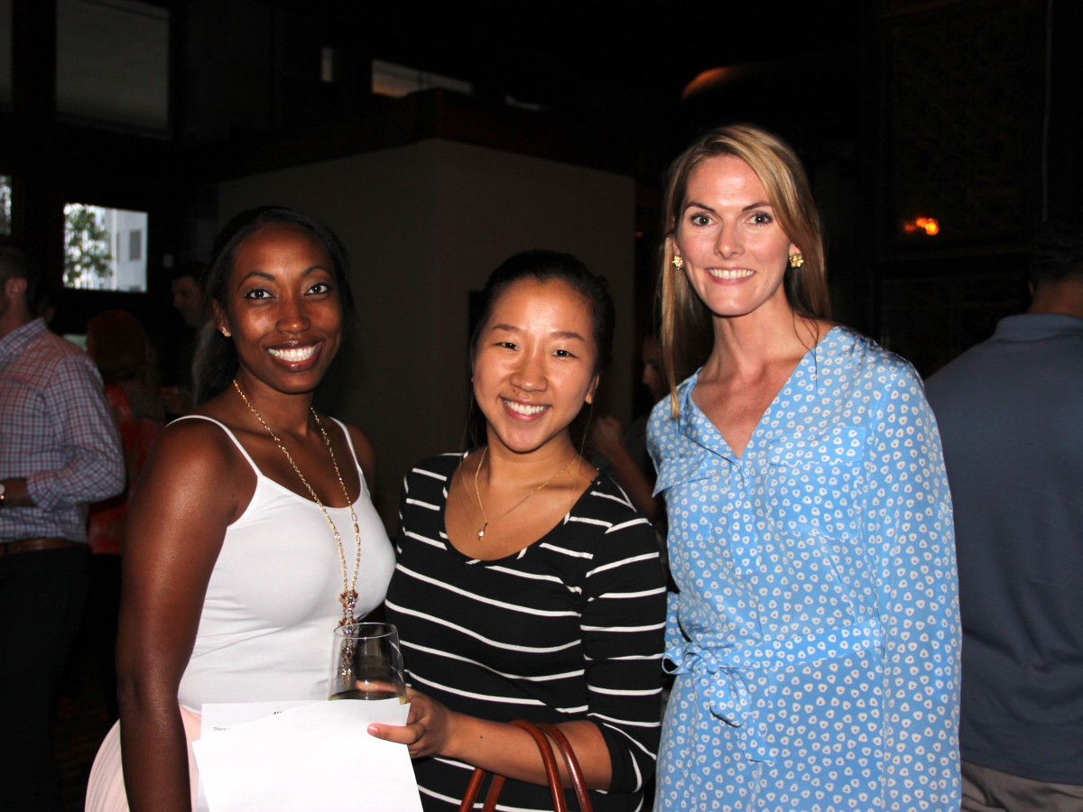 Houston, Friends of Depelchin Back to School Happy Hour, August 2015, Tahesha Yearby, Min Kang, Emmelie Kopp