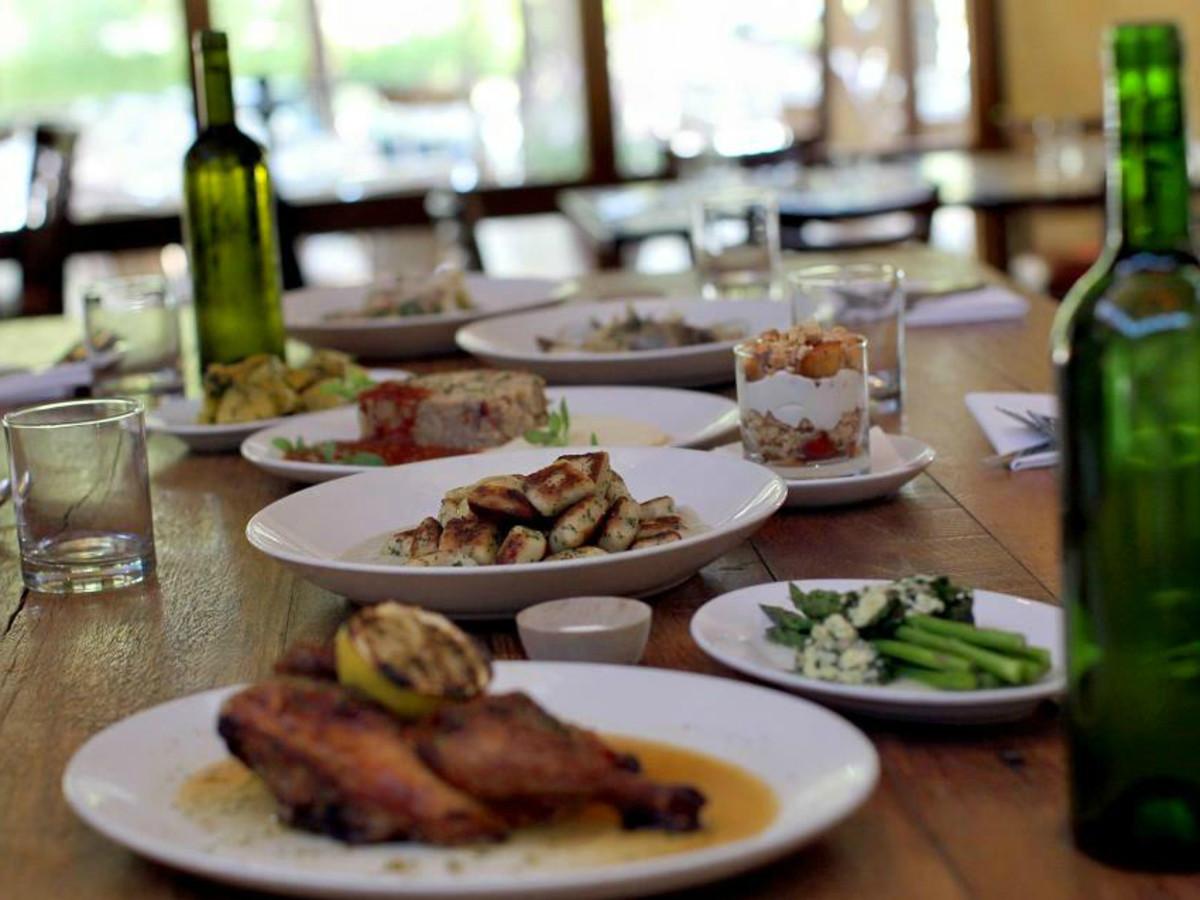 Tre Trattoria table interior San Antonio restaurant Jason Dady