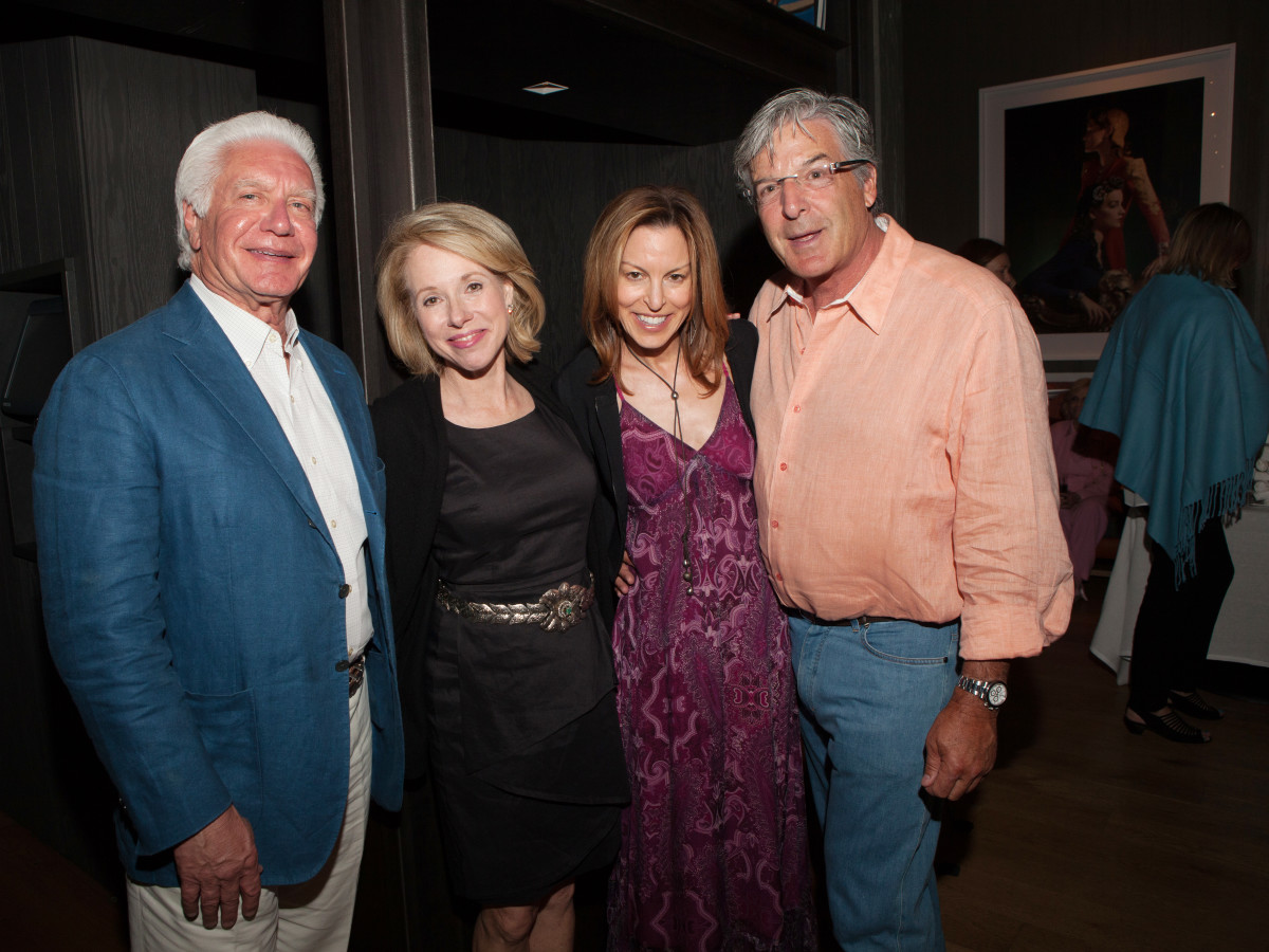 Houston, St. Luke's Foundation Summer Speaker Series Aspen, August 2015, Leonard and Janet Tallerine, Tracy and Glen Larner