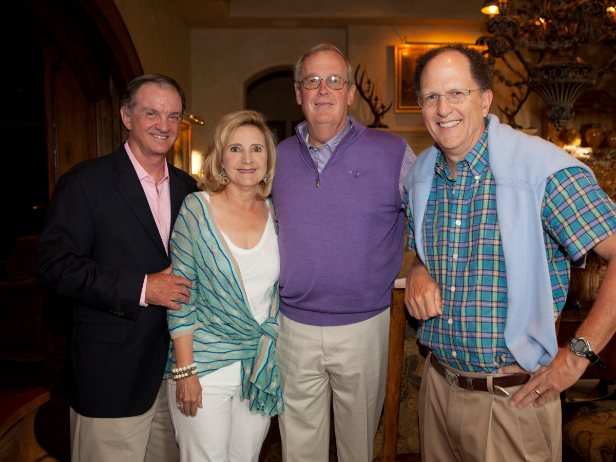 Houston, St. Luke's Foundation Summer Speaker Series Aspen, August 2015, Jimmy Erwin, Pam Erwin, Charlie Herder, Johnny Duncan