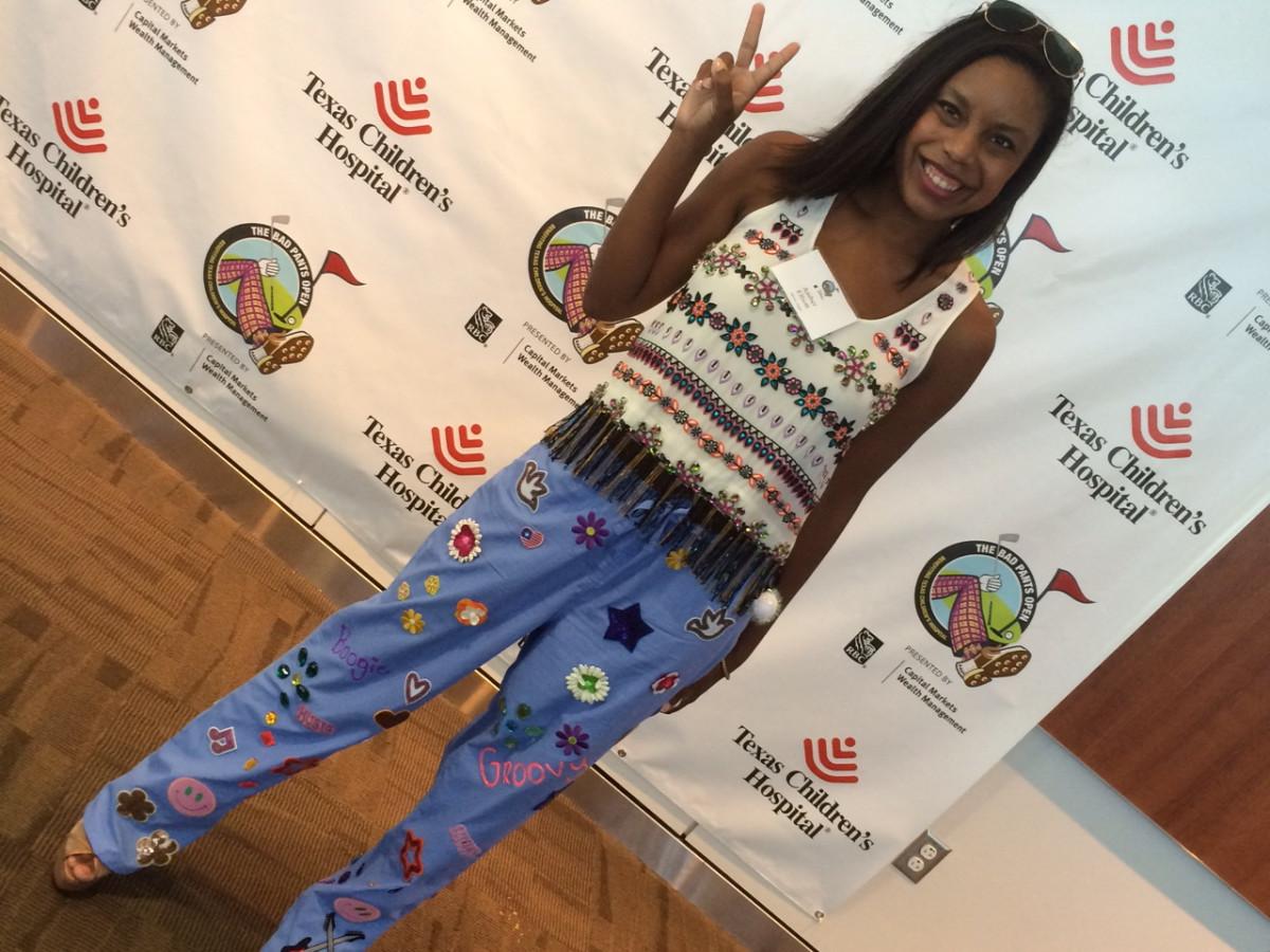 Amber Elliott at the Bad Pants fashion show