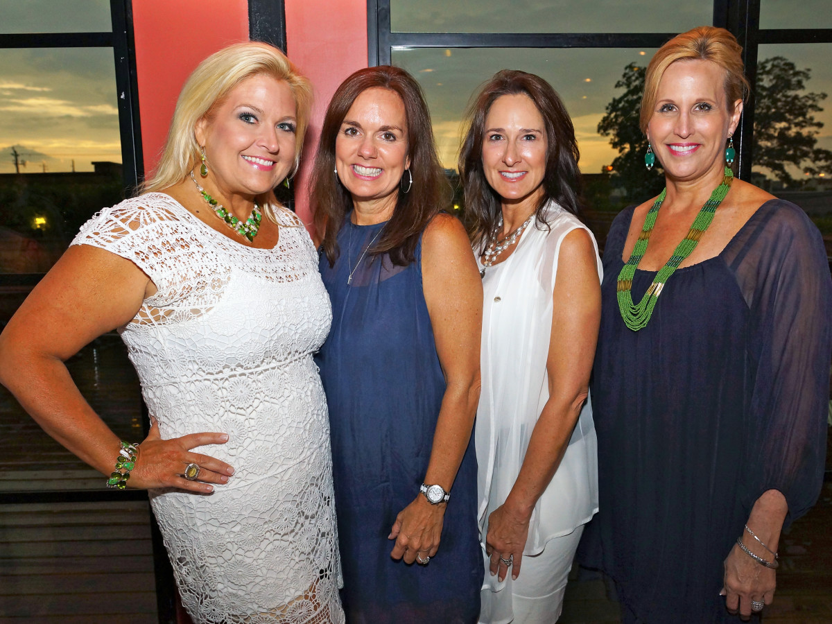 Houston, Roseann Rogers and Lara Bell birthday party, August 2015, Michelle Maresh, Angela Poujol, Lisa Erwin and Vanessa Sendukas