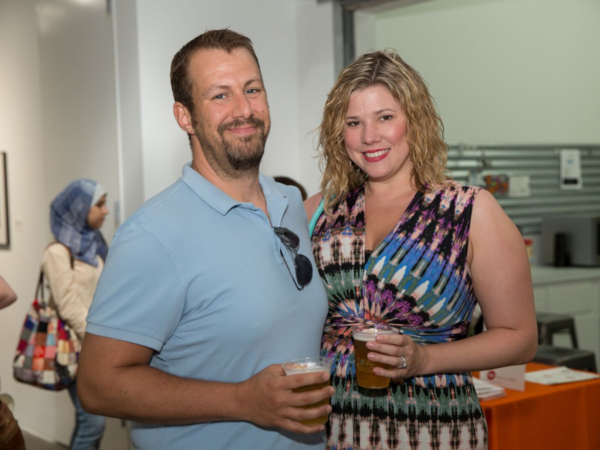 News, Shelby, Opera in the Heights party, August 2015, Kyle Albertson, Alissa Albertson