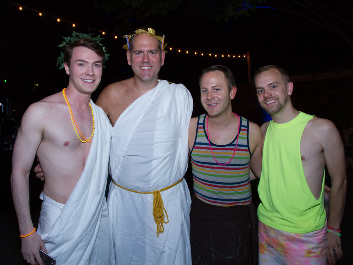 News, Bering Omega toga party, July 2015, William Finnorn, Jeff Gremillion, Jeremy Fain, Timothy Hamson