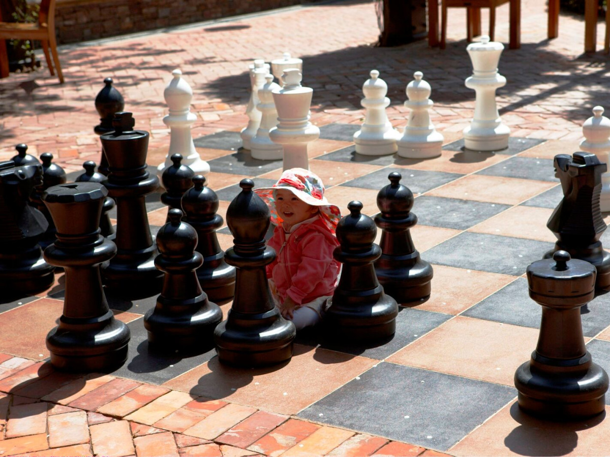 Santana Row chess set San Jose California