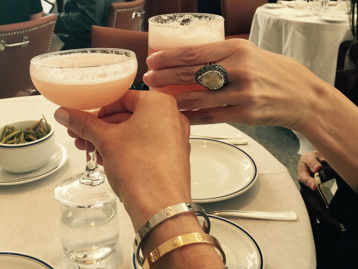 Bellinis at Cipriani in Mexico CIty