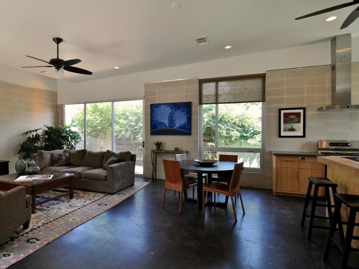 Austin home house 1011 E. 15th St. 78702 2015 living dining room
