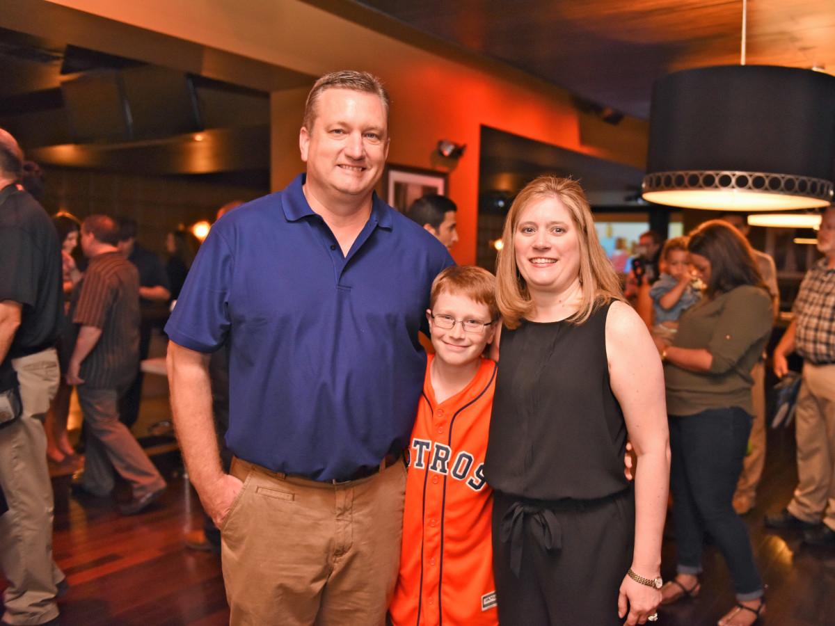 Houston, George Springer All-Star Bowling Benefit, July 2015, John, Patti and Joshua Allbritton