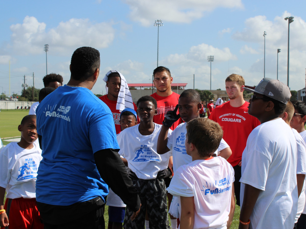 DJ Hayden Football Camp 2015 group 2