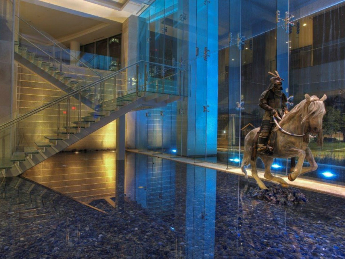 Azure lobby in Harwood District Dallas