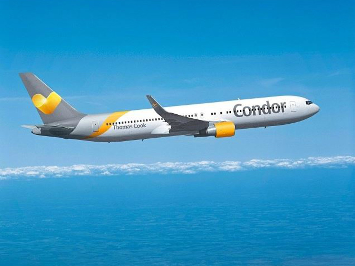 Condor Airlines airplane plane in flight