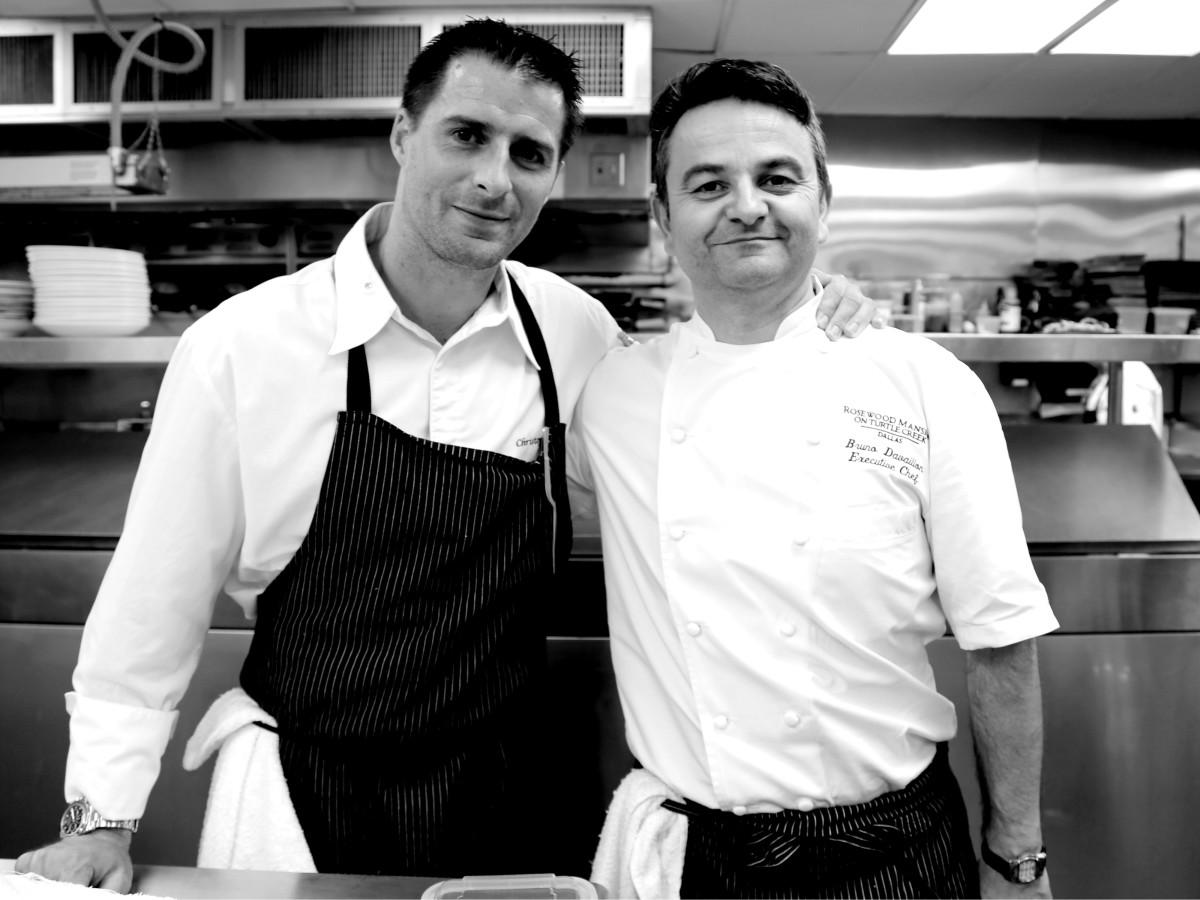 executive chef Christopher Hache and pastry chef Jérôme Chaucesse, Hôtel de Crillon