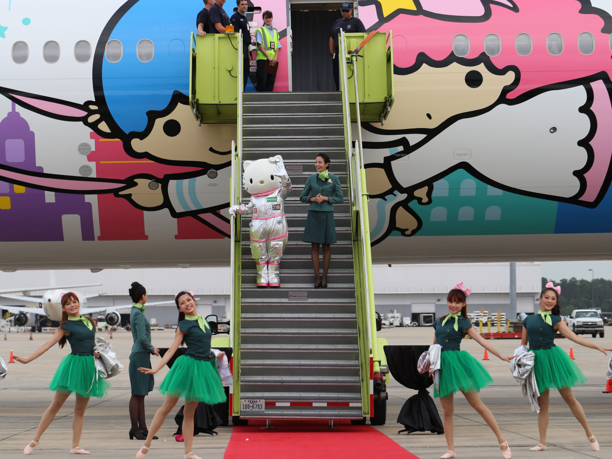 EVA Air Hello Kitty Houston ceremony