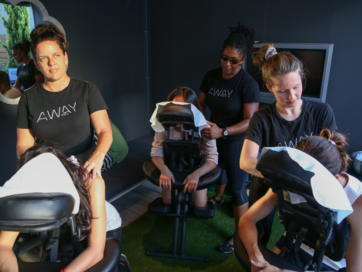 CultureMap Social The W Hotel Wet Deck Sway Massage