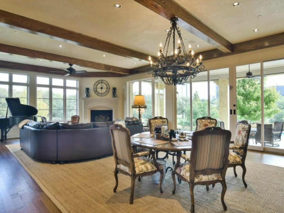 Dining room at 12258 Creek Forest Dr. in Dallas