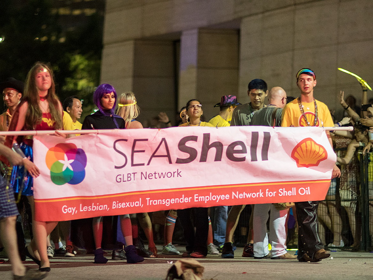 Houston Pride 2015 Shell GLBT group
