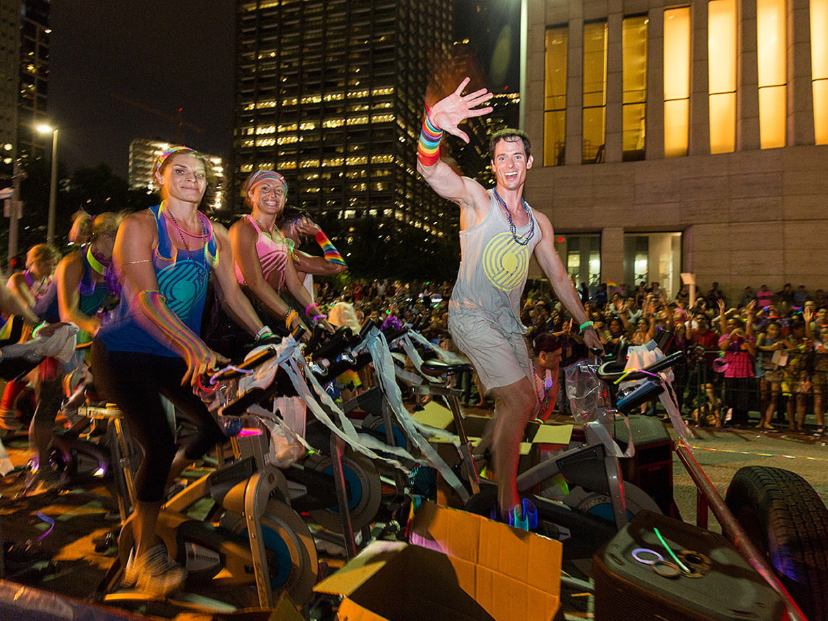 Houston Pride 2015 stationary bicyclists