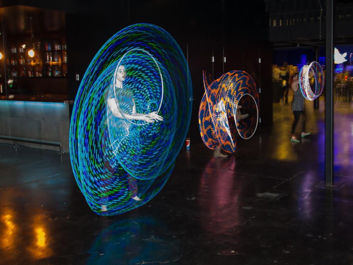 Hula hoopers at CultureMap Dallas Music Social 2015