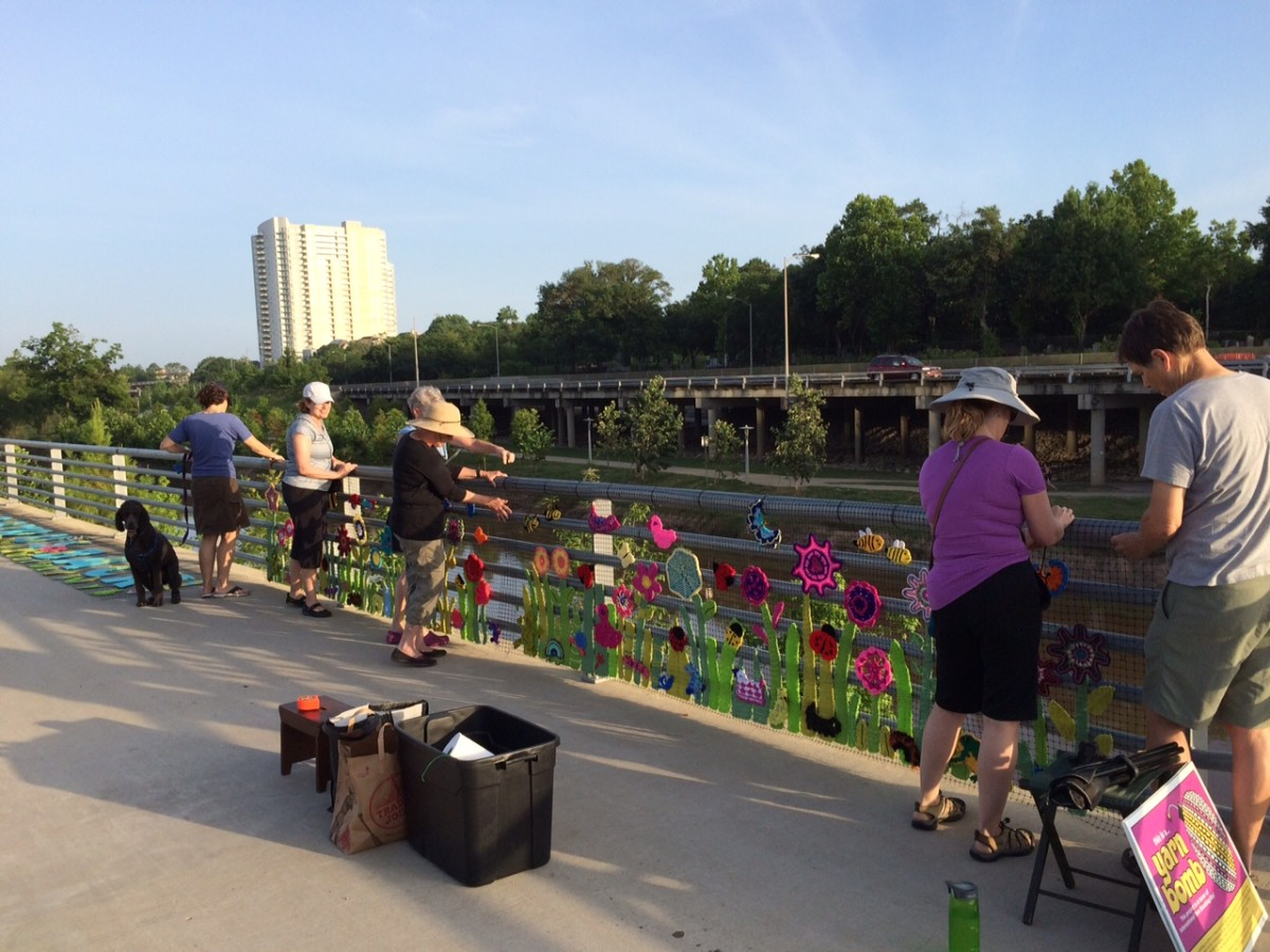News, shelby, Buffalo Bayou Park, Yarn Bomb, June 2015