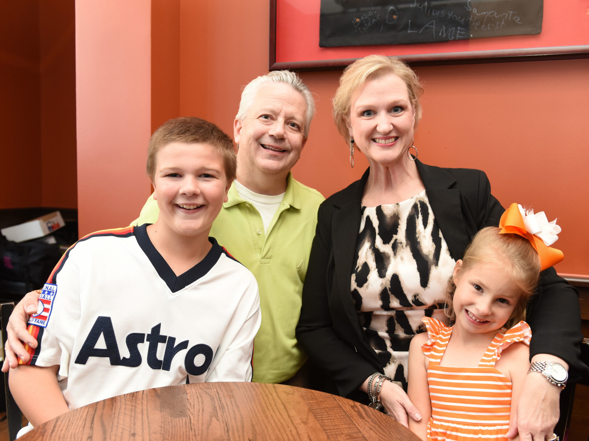 Houston, George Springer Bowling Benefit Kick Off, June 2015, Doug and Kathy Wright, Parker Wright, Reagan Wright,