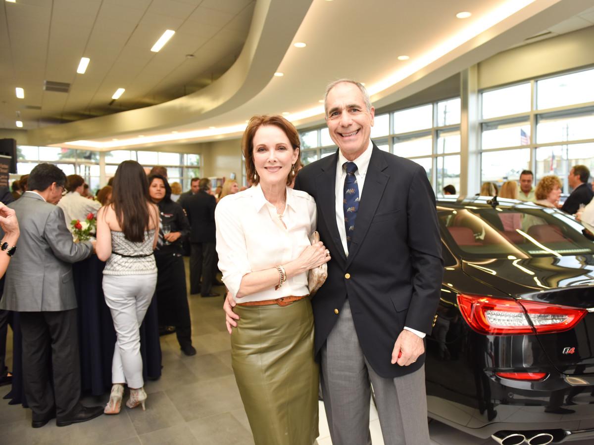 News, Shelby, Helfman Maserati opening, June 2015, Linden and Roger Sofer